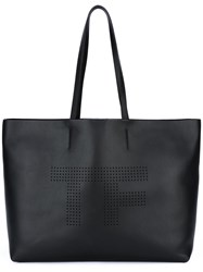 Tom Ford Perforated Shopping Bag Black