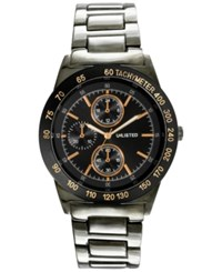 Unlisted Men's Chronograph Gunmetal Ion Plated Stainless Steel Bracelet Watch 46Mm 10027963