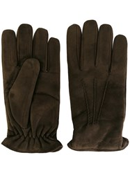 Lardini Cashmere Lined Gloves Brown