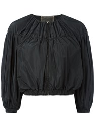 Giambattista Valli Cropped Ballon Sleeve Jacket Black