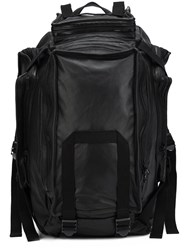 Julius Multi Zip Backpack Black