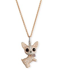 Qeelin Wang Wang Dog Pendant Necklace With White Diamonds