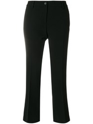 Alberto Biani Flared Fitted Trousers Polyester Polyurethane Rayon Black