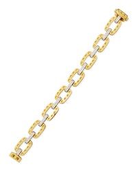 Pois Moi Square Link Bracelet With Diamonds Yellow Gold Roberto Coin Red