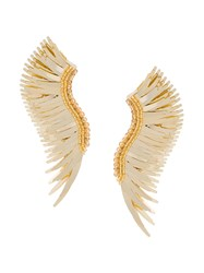 Mignonne Gavigan Long Wings Beaded Earrings Yellow And Orange