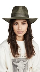 Rag And Bone Packable Straw Fedora Army Green