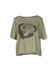 Wesc Topwear T Shirts Women Military Green