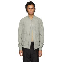 Rick Owens Grey Cop Flight Bomber Jacket