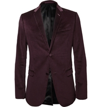 Gucci Embossed Velvet Blazer Red
