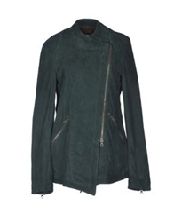 Vintage De Luxe Mid Length Jackets Dark Green