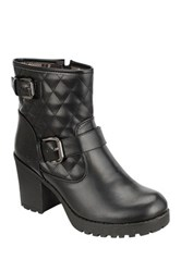 Refresh Club Quilted Short Boot Black