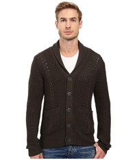 7 For All Mankind Cable Shawl Cardigan Olive Men's Sweater