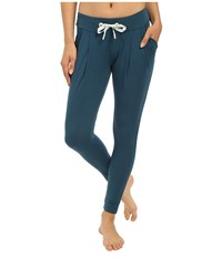 Asics Studio Sarouel Pants Dark Teal Women's Casual Pants Blue