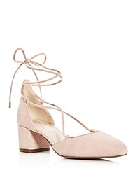 Kenneth Cole Toniann Lace Up Low Heel Pumps Rose