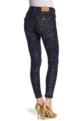 True Religion Jennie Metallic Bleach Splatter Curvy Skinny Jeans Shooting S