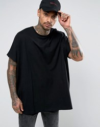 Asos Extreme Oversized T Shirt In Heavy Jersey In Black Black
