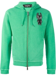 Dsquared2 Dog Print Hoodie Green