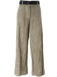 Hache Belted Trousers Nude And Neutrals