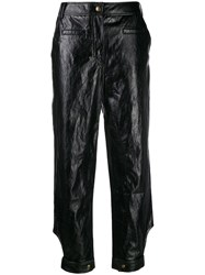 Rejina Pyo High Waisted Trousers Black