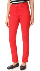 Re Done High Rise Red Jeans