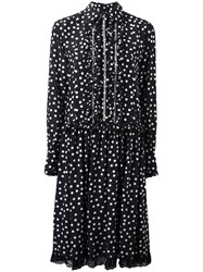 Dolce And Gabbana Polka Dot Shirt Dress Black