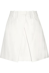 Mcq By Alexander Mcqueen Pleated Woven Shorts White
