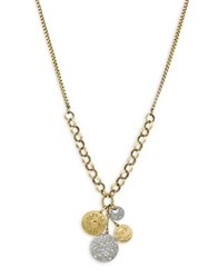 Jessica Simpson Crystal Pendant Necklace Gold