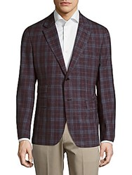 Faconnable Checkered Jacket Brown