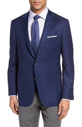 Hickey Freeman Men's Big And Tall Beacon Classic Fit Wool Blazer Blue