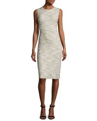 Theory Eano Branson Knit Sheath Dress Black White