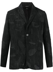 Avant Toi Distressed Single Breasted Blazer 60