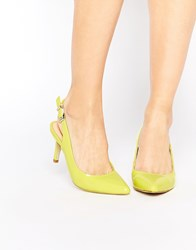 Ravel Point Sling Mid Heeled Shoes Green
