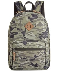 American Rag Men's Camo Print Backpack Only At Macy's Dusty Olive