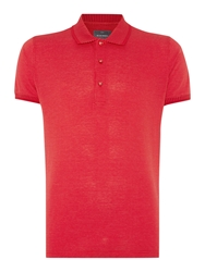 Peter Werth Walter Polka Dot Slim Fit Polo Shirt Red
