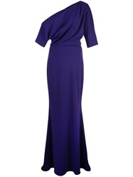 Badgley Mischka One Shoulder Gown Purple