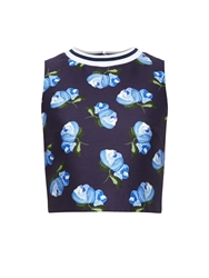 Mother Of Pearl Morley Floral Print Cropped Top