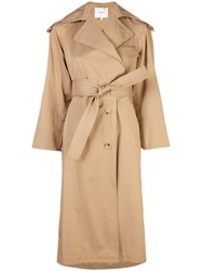 Vince Belted Trench Coat Neutrals