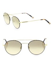 Etnia Barcelona Vintage Born Sun 50Mm Double Bridged Round Sunglasses Gold