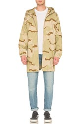 Stussy Light Ripstop Hooded Jacket Beige