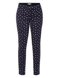 White Stuff Dotty Trousers Uniform Blue