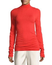 The Row Anabe Knit Turtleneck Sweater Bright Red