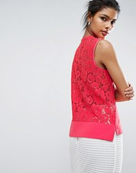 Ted Baker Lace Back Top Coral Pink