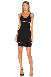Endless Rose Knit Sleeveless V Neck Dress Black