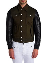 Viktor And Rolf Military Mix Jacket Blue Green