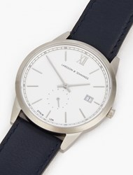 Larsson And Jennings Navy Silver Saxon 39Mm Watch