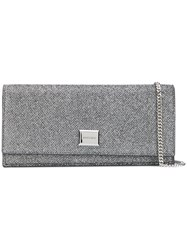 Jimmy Choo Lilialag Anthracite Furs And Skins Calf Leather Silver