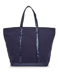 Vanessa Bruno Sequin Canvas Tote Indigo Navy