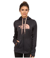 The North Face Fave Half Dome Full Zip Hoodie Asphalt Grey Heather Twist Orange Women's Sweatshirt Gray