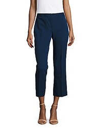 Vince Camuto Solid Cropped Mini Flared Pants Naval Navy