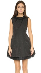 Marc By Marc Jacobs Watermark Technical Taffeta Dress Black